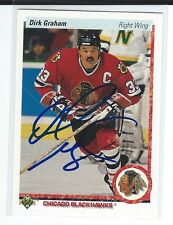 Dirk Graham Signed 1990/91 Upper Deck Card #131