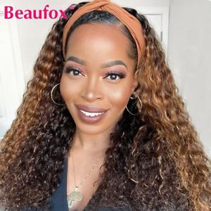 Highlight Wig Water Wave Headband Wig Human Hair Wigs Brazilian Hair Wigs Remy