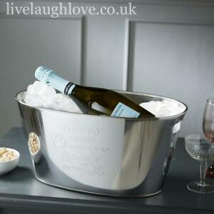 """Large Metal Wine Cooler """"Time to Drink Champagne And Dance On The Table"""""""