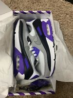 "Nike Air Max 90 ""Hyper Grape"" White Grey Purple Black CD0490 103 Women's Size 8"