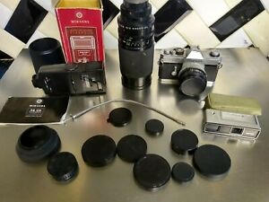 JOB LOT OF CAMERA ACCESSORIES, Lens cameras as seen canon minolta 16 soligor