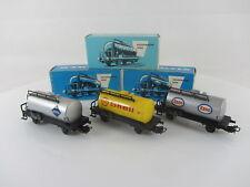 Märklin 4500, 4501 und 4502 Kesselwagen ARAL,Shell,Esso m. Originalverpackung