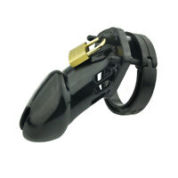 Plastic CB6000 Male Chastity Belt Device Chastity Cage Lock Black Color