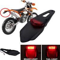 Universal Enduro Fender LED Stop brake Rear Tail Light Lamp For XR DRZ KLX KMX A