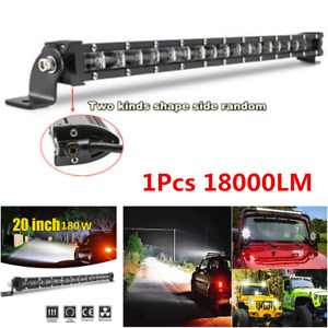 "1Pcs 20"" 180W 18000LM Off-Road 6D Spot Beam Slim Single Row LED Work Light Bar"
