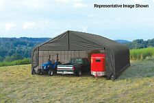 ShelterLogic Peak Style 30ft.W Garage/Storage Shelter-Gray $2200