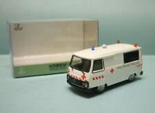 Norev - PEUGEOT J9 CROIX ROUGE FRANCAISE Ambulance Neuf NBO HO 1/87