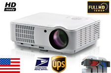 4000 Lumen 1080P Home Use 3D HDMI LED Movie Projector Support 200 Inch Screen