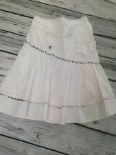 Next Size 12 White Skirt Boho Hippy Holiday Sequins Summer  Festival