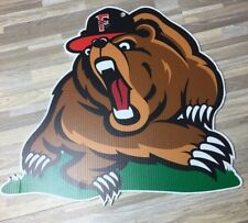 "Fresno Grizzlies ""Growlifornia"" HustleHead Fat Heads. ONE OF A KIND! 16"" x 17"""
