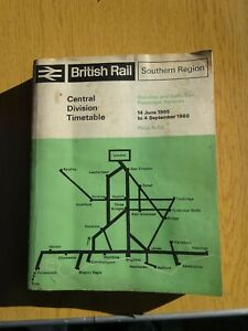 British Railways Southern Region Central Division Timetable 1965/66, with maps