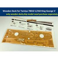 Wooden Deck for Tamiya 78010 1/350 Scale King George V Ship Model