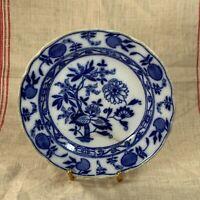 Antique MEISSEN ENGLAND Blue Onion Plate - Blue Crown Hallmark Stamp