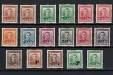 NEW ZEALAND 1938-47 KING GEORGE PORTRAIT STAMPS MINT TO 9d INCLUDING SURCHARGES