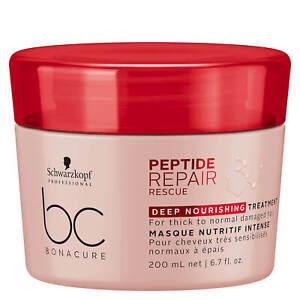 Schwarzkopf BC Peptide Repair Rescue Intensive Treatment, 6.8oz (W/ Pink Jar)