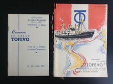 Anciennes plaquettes lancement Cargo Tofevo 1952 Brenet