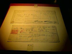 MIS405 Checks; J.H.Ten-Eyck Burr & James, Aikerman & Co.