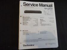 Original Service Manual Technics sh-ge50