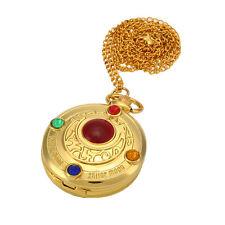 Fashion Anime Sailor Moon Golden Moon Sweater Chain Pendant Pocket Watch