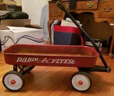 Vintage Metal Radio Flyer Red Wagon No. 9 18 x 23