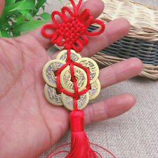 Feng Shui Chinese Coins for good Luck Fortune Hanging Bag Car Decor Charm Tassel