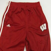 Wisconsin Badgers Adidas Mesh Athletic Pants Youth L 14-16 Large Basketball