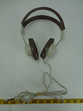 Vintage Telex 610 Headphones School Style Adjustable 6.3mm Jack Brown SKU A GS