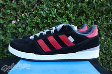 ADIDAS SILAS VULC ADV SKATE SZ 10.5 CORE BLACK UNIVERSITY RED GREY G48130
