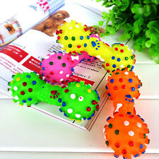 New Pet Puppy Cat Dog Chew Toy Soft Small Rubber Bone Squeaky Pet Play Toys