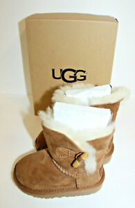 UGG GENUINE SHEEPSKIN T EBONY BOOTS BRAND NEW TODDLER KIDS SHOES SIZE 6 1013265T