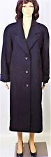 OUTBROOK size 6 black 100% wool (polyester lining) long coat dry clean only