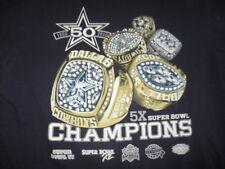 1960-2010 50th DALLAS COWBOYS 5x Super Bowl Champions RINGS (LG) T-Shirt