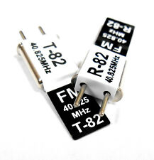 RC 40 MHZ 40.825 FM Crystal TX & RX Receiver 40MHZ Black Channel 82