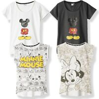 Disney Minnie & Mickey Mouse Cartoon 100% Cotton T-Shirt Womans Womens Teenagers