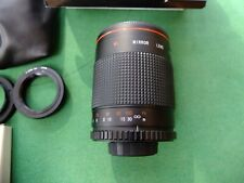 500mm Lente De Espejo Montura T, Nikon F Contax/Yashica adaptadores, En Caja Vivitar, Bolsa