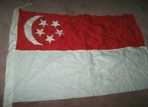 SINGAPORE FLAG, COTTON *NICE*