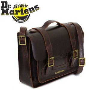 "Dr. Martens Unisex 13"" Charro Brando Brown Leather Satchel RRP £169"