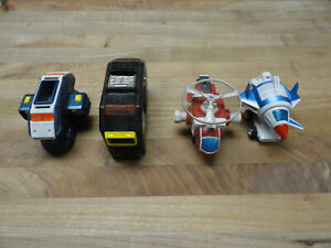 4 Vehicle Voltron/ Dairruger/ Voltron 1/I vehicles, head, waist, red helicopter