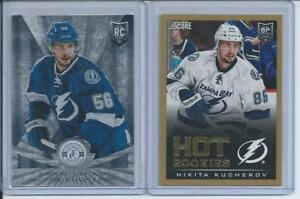 13/14 Nikita Kucherov Score Gold RC + Totally Certified RC 2-card lot