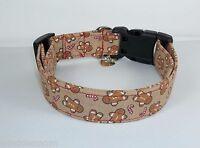 Gingerbread Man Terri's Dog Collar custom hand made adjustable charming fabric
