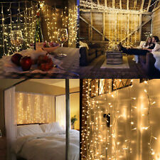 Warm White 100LED 10m Fairy Curtain String Lights Christmas Xmas Party Holiday