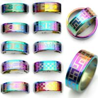 80/100Pcs Wholesale Mixed Stainless Steel Rings Men Women Ring Jewelry Gift Lot