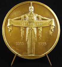 Médaille Armand Pottier 1933 sc R Bénard Assurance incendie fire insurance Medal