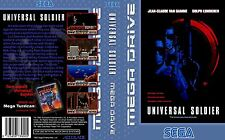 Universal Soldier Sega Mega Drive PAL Caja De sustitución Cubierta Estuche De Arte insertar escanear