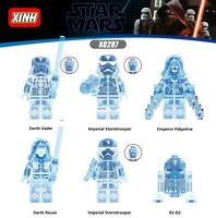 New Lego Star Wars Blue Hologram Emperor Palpatine micro minifigure 75055