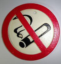 exclusif non fumeur NOSTALGIE PLAQUE FONTE métal RUSTIQUE