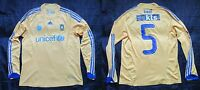 Brondby IF #5 LONG SLEEVE Player Match Issue home shirt Adidas 2008-2009 SIZE L