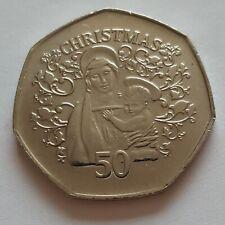 More details for 2005. gibraltar christmas 50p, madonna & child,  read description. scarce.