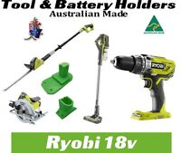 Ryobi One + 18V tool & Battery holder mount bracket storage