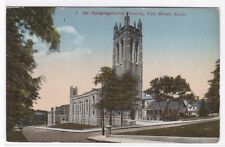 1st Congregational Church Fall River Ma 1910c postcard